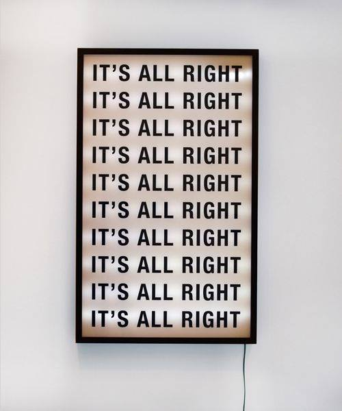 It is all right